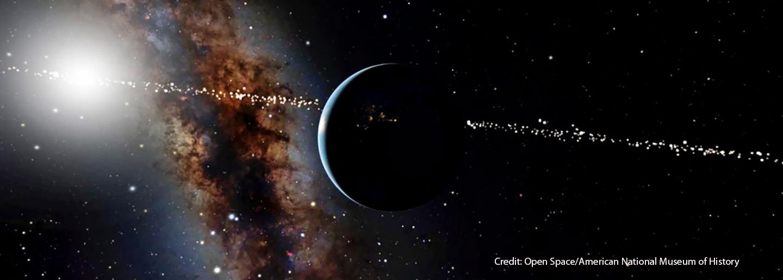 Milky Way galaxy, Earth and sun